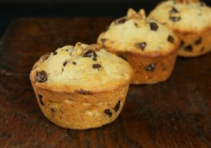 Sabrosos muffins de banana con chips de chocolate