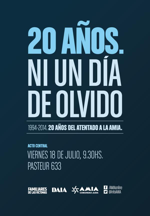 20 años - Ni un día de olvido - Flyer