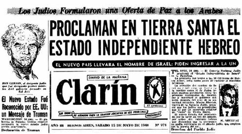 Tapa delDiario Clarindel día 15 de mayo de 1948)