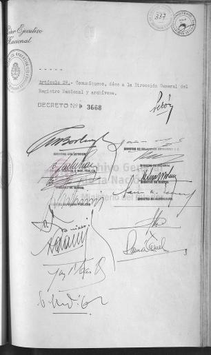 Decreto de Reconocimiento - Firmas